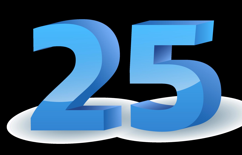 25 Number PNG Download Free Image