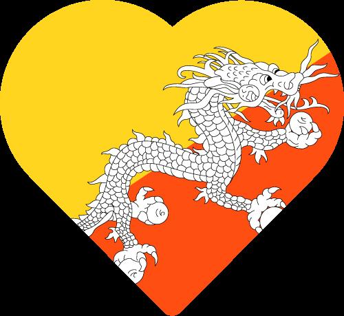 Bhutan Flag Transparent Image