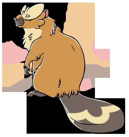 Bibarel Pokemon PNG Background