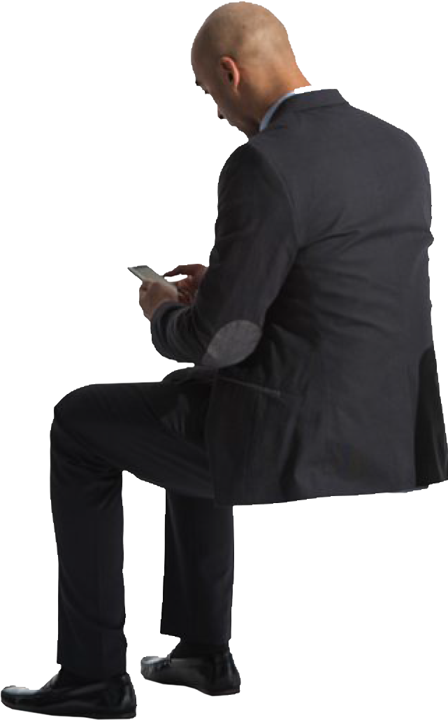 Business Sitting Man Download Free PNG
