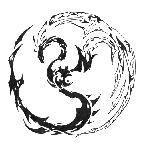 Circle Dragon PNG Clipart Background