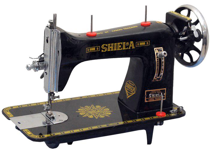 Vintage Sewing Machine Background PNG Image