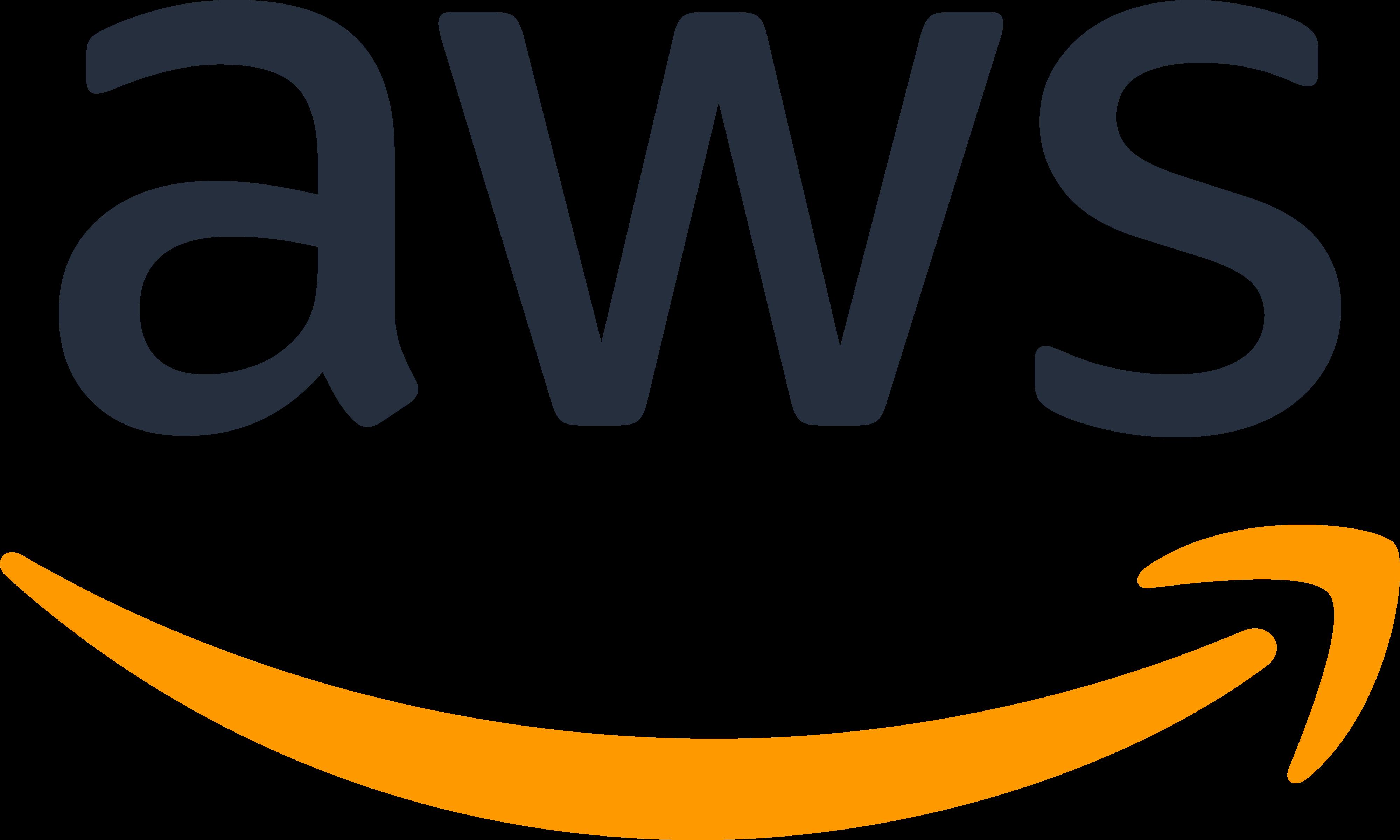Amazon Web Services AWS Logo Transparent PNG