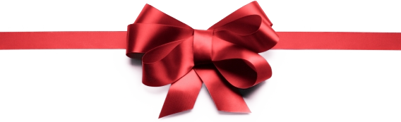 Red Christmas Ribbon Glowing PNG