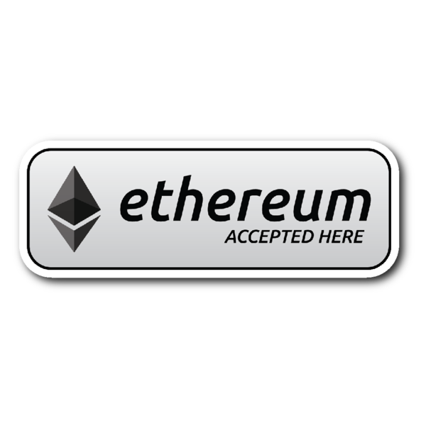 Ethereum Accepted Here PNG HD Quality