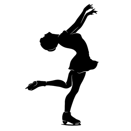 Figure Skating Silhouette Transparent File