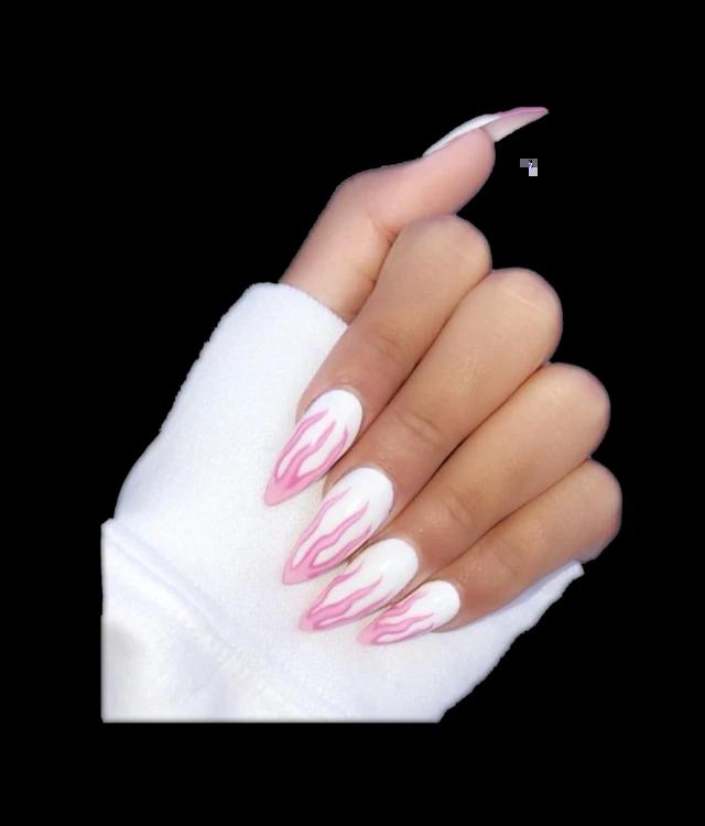 Long Acrylic Nails Transparent Background