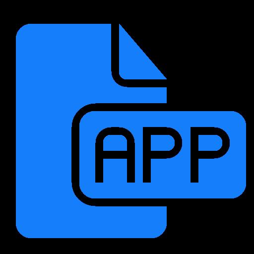 Mobile Application Blue Icon Transparent PNG