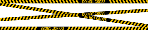 Police Tape Lines Transparent PNG