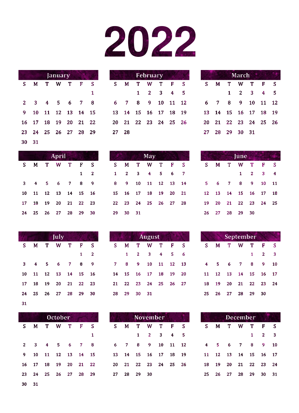 Calendar 2022 Background PNG