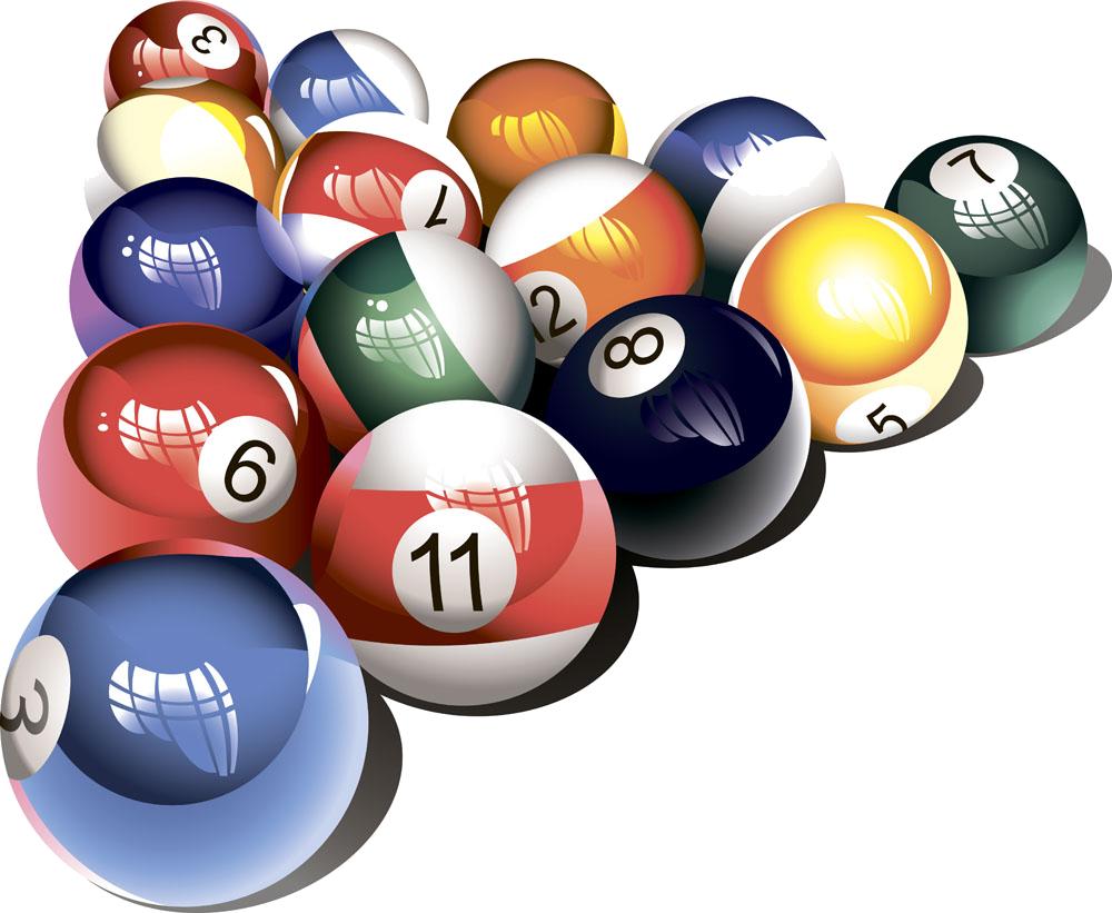 Snooker Billiard Balls PNG Clipart Background
