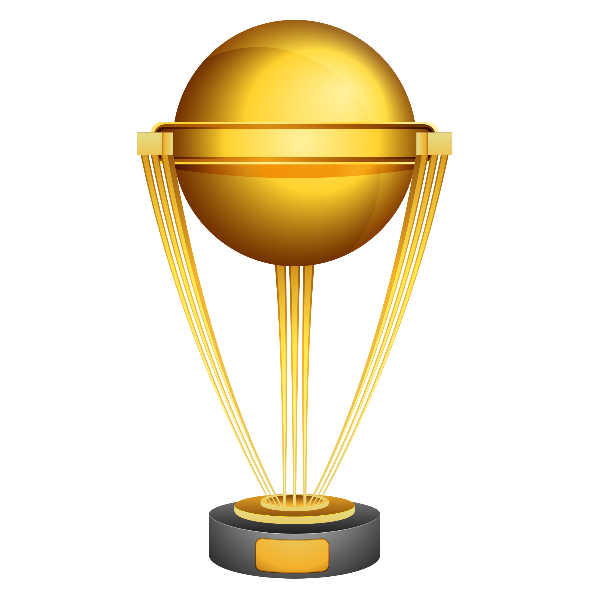 Golden Trophy Transparent PNG