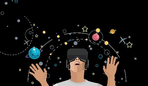 Online Virtual Reality Transparent Image